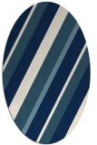 rug #1130611 | oval white stripes rug