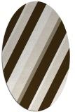 rug #1130615 | oval white stripes rug