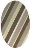 rug #1130623 | oval white stripes rug