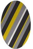 rug #1130627 | oval yellow stripes rug