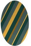 rug #1130631 | oval light-orange stripes rug