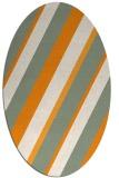 rug #1130663 | oval light-orange stripes rug