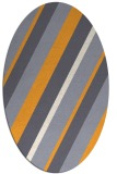 rug #1130667 | oval light-orange stripes rug