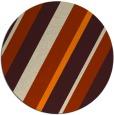 rug #1131039 | round orange stripes rug