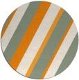 rug #1131399 | round light-orange stripes rug