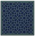 rug #1131815 | square blue borders rug