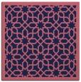 rug #1131867 | square blue-violet borders rug