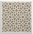 rug #1131935 | square mid-brown borders rug