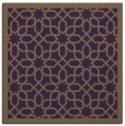 rug #1132023 | square mid-brown borders rug