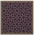 rug #1132023 | square mid-brown borders rug