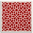 rug #1132031 | square red borders rug