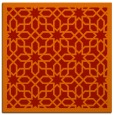 rug #1132035   square orange geometry rug