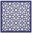 rug #1132071 | square blue borders rug