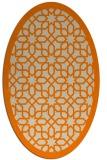 rug #1132143 | oval orange borders rug