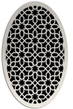 rug #1132147 | oval white geometry rug