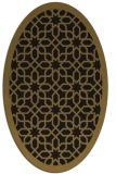 rug #1132163 | oval mid-brown rug