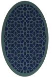 rug #1132183 | oval blue borders rug