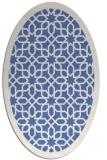 rug #1132191 | oval blue borders rug