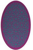 rug #1132223 | oval pink geometry rug
