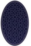 rug #1132227 | oval blue-violet borders rug