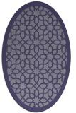 rug #1132231 | oval blue-violet borders rug