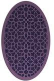 rug #1132239 | oval purple borders rug