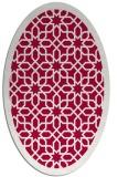 rug #1132259 | oval red borders rug