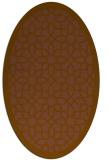 rug #1132291   oval mid-brown borders rug