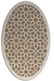 rug #1132299 | oval beige borders rug