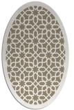 rug #1132303   oval mid-brown borders rug