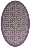 rug #1132327 | oval purple borders rug