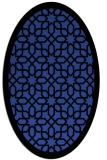 rug #1132343 | oval black borders rug
