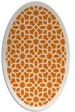 rug #1132355 | oval orange borders rug