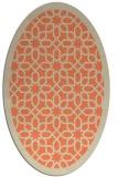 rug #1132359 | oval orange borders rug