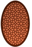 rug #1132363 | oval orange borders rug