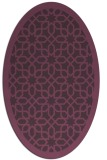 rug #1132383 | oval purple geometry rug