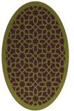 rug #1132387 | oval green borders rug