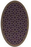 rug #1132391 | oval mid-brown borders rug