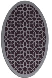 rug #1132395 | oval purple geometry rug