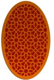 rug #1132403 | oval orange geometry rug