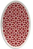 rug #1132407 | oval red borders rug