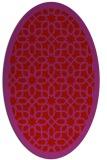 rug #1132411 | oval red borders rug