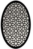 rug #1132431 | oval white borders rug
