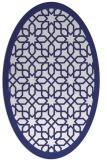 rug #1132439 | oval white rug