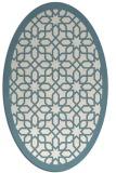 rug #1132451 | oval white borders rug