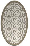rug #1132455 | oval beige borders rug