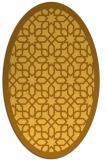 rug #1132471 | oval light-orange borders rug