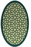 rug #1132475 | oval yellow rug