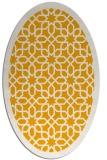 rug #1132495 | oval light-orange borders rug