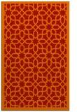 rug #1132771 |  orange geometry rug